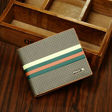 Fashion Mens Leather Bifold Purse Clutch Wallet. Credit Card and ID holder