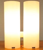 Doria Wand Lampe Glas Säulen Leuchte 60er Jahre Vintage Wall Lamp H28cm