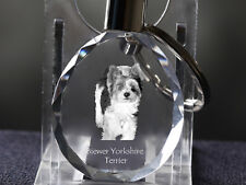 Biewer Yorkshire Terrier, Dog Crystal Round Keyring, Quality, Crystal Animals Ca