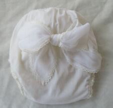 White Honeysuckle Sears Baby Pants Vinyl Plastic Diaper Cover Cloth Bow