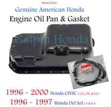 Genuine OEM Honda Civic CX DX LX Oil Pan & Gasket 1996-2000 Del Sol S Si 96-97