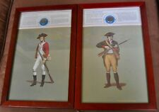 Pair of Revolutionary War Soldiers with Reprod. Uniform Buttons Framed Prints #3