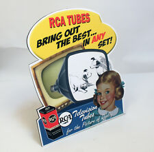 Rca Victor Television Tubes Advertising Stand up Display Nipper Dog Camden Nj