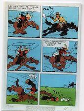Carte Postale Les Portraits de Tintin n°21. Sérigraphie de Tintin en Amérique