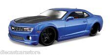 "MAISTO 2010 CHEVROLET CAMARO SS RS METALLIC BLUE ""MODERN MUSCLE"" 1/24CAR 31359"