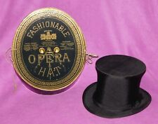Antique Dunlap & Co N.Y Collapsible Opera Top Hat Original Box