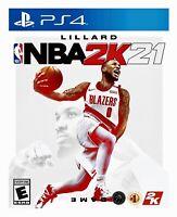 NBA 2K21 PS4 Brand New Factory Sealed Sony PlayStation 4 Basketball Game Lillard