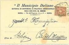 CARTOLINA d'Epoca ROMA città - PUBBLICITARIA: Il Municipio Italiano