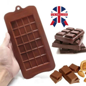 24 Cell Chocolate Bar Candy Mold Chocolatier Silicone Mould Snap Wax Melt DIY UK