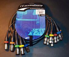 AUDIOPHONY CABLE  XLR M / XLR F PATCH 8 VOIES MULTIPAIRES 3 m CP-60/3