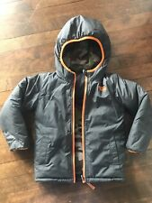 The North Face Toddler Boy Jacket Gray Camo Coat reversible Fleece 4T