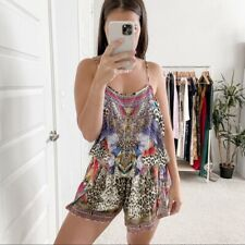 Camilla Shoestring Strap Playsuit Kingdom Call Size M