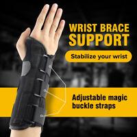 Iron Carpal Tunnel Wrist Brace Support Sprain Forearm Splint Band Strap
