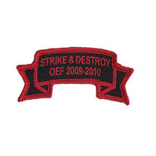 5-2 Infantry (5th Stryker Brigade) STRIKE & DESTROY Embroidered Scroll - 2nd ID