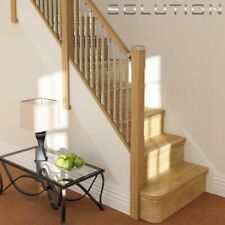 SOLUTIONS STAIR KIT CHROME SPINDLES WITH PINE OR OAK RAILS