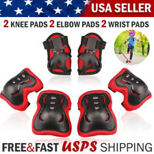 Wrist Elbow Knee Pads Inline Roller Skate Bike Protective Gear Guard for Kids