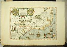 Carte de la Floride d'ap HONDIUS Henricus c1900 Map of Florida USA Virginia
