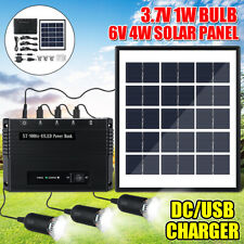 4W Solar Power Panel USB Charger Emergency LED Light Home System Kit   L N !