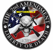 Liberty or Death Sticker - 2nd Amendment Vinyl Decal Guns 1789 USA United States