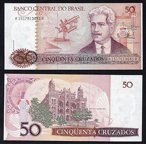 Brasile / Brasil - 50 cruzados 1986(88) FDS/UNC  B-01