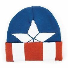 026c30132bf3d Marvel KC251006CAP Captain America Beanie With Knitted Logo Pattern (one