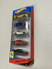 2014 Hot Wheels Ferrari 5-pack FERRARI Enzo, 430, 458, 612 & F40 Imperfect pkg
