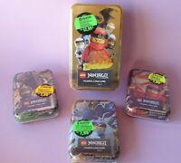 alle 4 TIN DOSEN, Lego Ninjago Trading Card Game, Serie 4