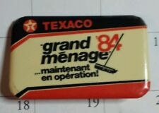 Texaco 1984  pin back button ,