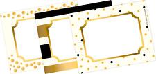 "Barker Creek 3-1/2 x 2-3/4"" Name Badges/Self-Adhesive Labels, Gold, 45-Count"