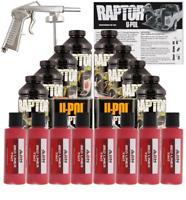 U-POL Raptor Tintable Hot Rod Red BedLiner Kit w/ SprayGun, 8 Liters Upol