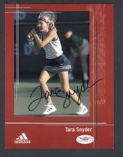 Tara Snyder Autographed 6x8 Adidas Tennis Advertisement card JSA COA