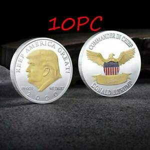 10PC US President Donald Trump 2020 KEEP AMERICA GREAT Eagle Coin