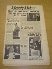 MELODY MAKER 1953 MARCH 7 NORMAN GRANZ JACK PARNELL TITO BURNS JIMMY YOUNG +