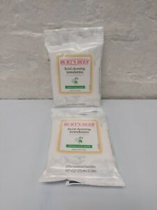 Burts Bees SENSITIVE SKIN Facial Cleansing TOWELETTES - 10 Total Wipes