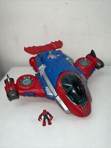 Playskool Heroes Marvel Spider Man Jet Quarters Plane Toy Playset Hasbro