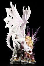 Drachen Elfe Figur - Dragon Guard groß - Fantasy Statue Gothic Deko