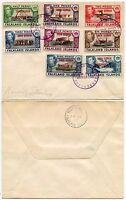 FALKLAND ISLANDS SOUTH GEORGIA 1945 KG6 OVERPRINTS 8 values SET on ENVELOPE
