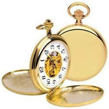 Royal London Full Hunter Gold Plated Mechanical Pocket Watch With Chain 90004-01