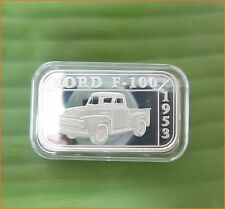 """1 oz .999 Silver """" 50 YEARS FORD SERIES FORD F 100 1953"""" Art Round/Bar H41"""