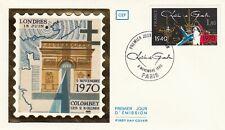 Enveloppe 1er jour timbrée GENERAL CHARLES DE GAULLE 1980 appel 18 juin 1940 2