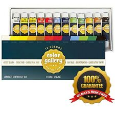 Ander Blake Acrylic Paint Set for Crafts, Painting on Canvas, Wood, Ceramics,...