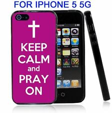 Purple Keep Calm and Pray On For Iphone5 5G Case Cover