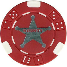 100 TEXAS HOLDEM BOUNTY TOURNAMENT POKER CASINO CHIPS Free Shipping *