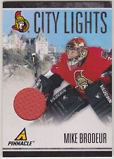 10-11 Pinnacle City Mike Brodeur /499 City Lights Jersey Senators 2010