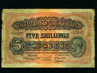 East Africa:P-20,5 Shillings 1933 * King George V *