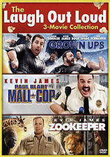 The Laugh Out Loud Collection 3 MOVIES(DVD, 2015) GROWN UPS, MALL COP, ZOOKEEPER