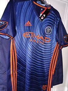 New York City Football Club NYCFC Etihad Airways soccer Jersey shirt MLS NYC _ S