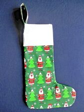 Hand made Fabric Christmas Stocking