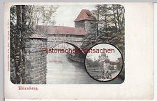 (110672) AK Nürnberg, Kasemattentor u. Synagoge, vor 1905