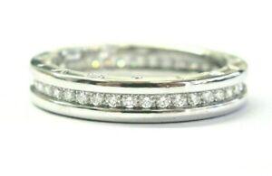 Bulgari B.Zero 1 Diamond Ring 18Kt White Gold Size 59 US 9 .75Ct